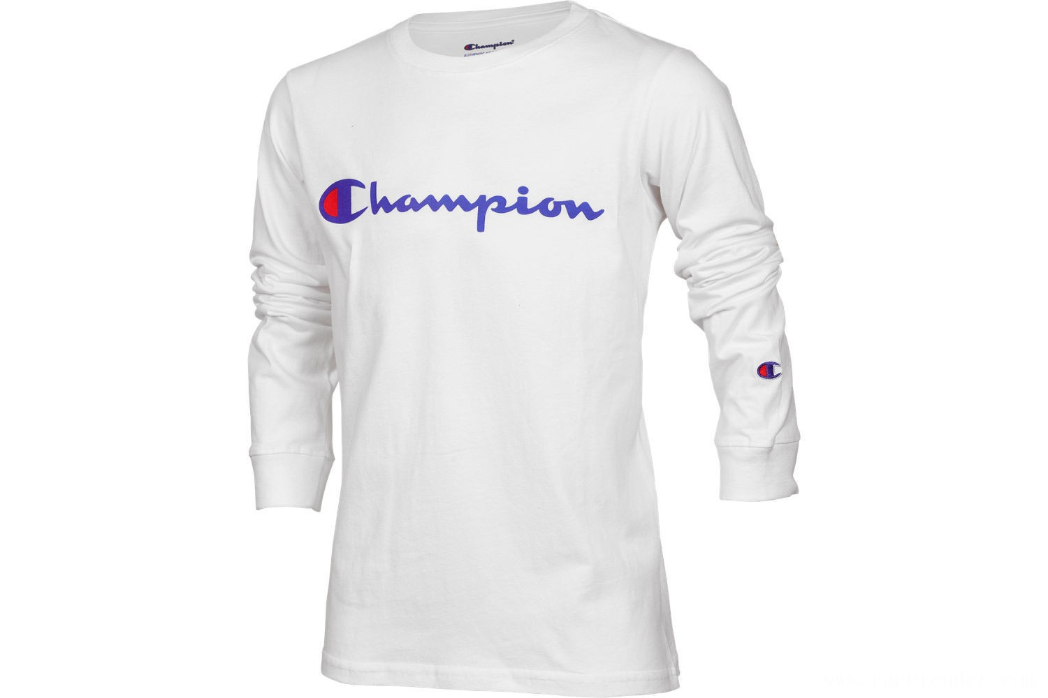Champion Kids' Heritage Logo Long Sleeve T-Shirt - White