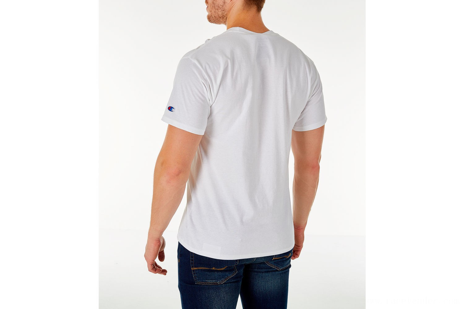 Champion Men's Big C Logo T-Shirt - White