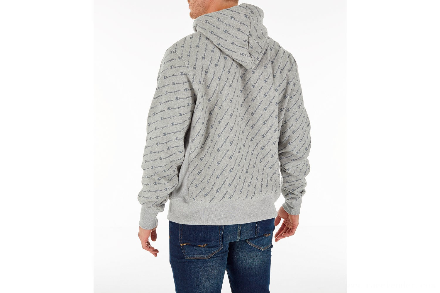 Champion Men's Reverse Weave Allover Hoodie - Grey