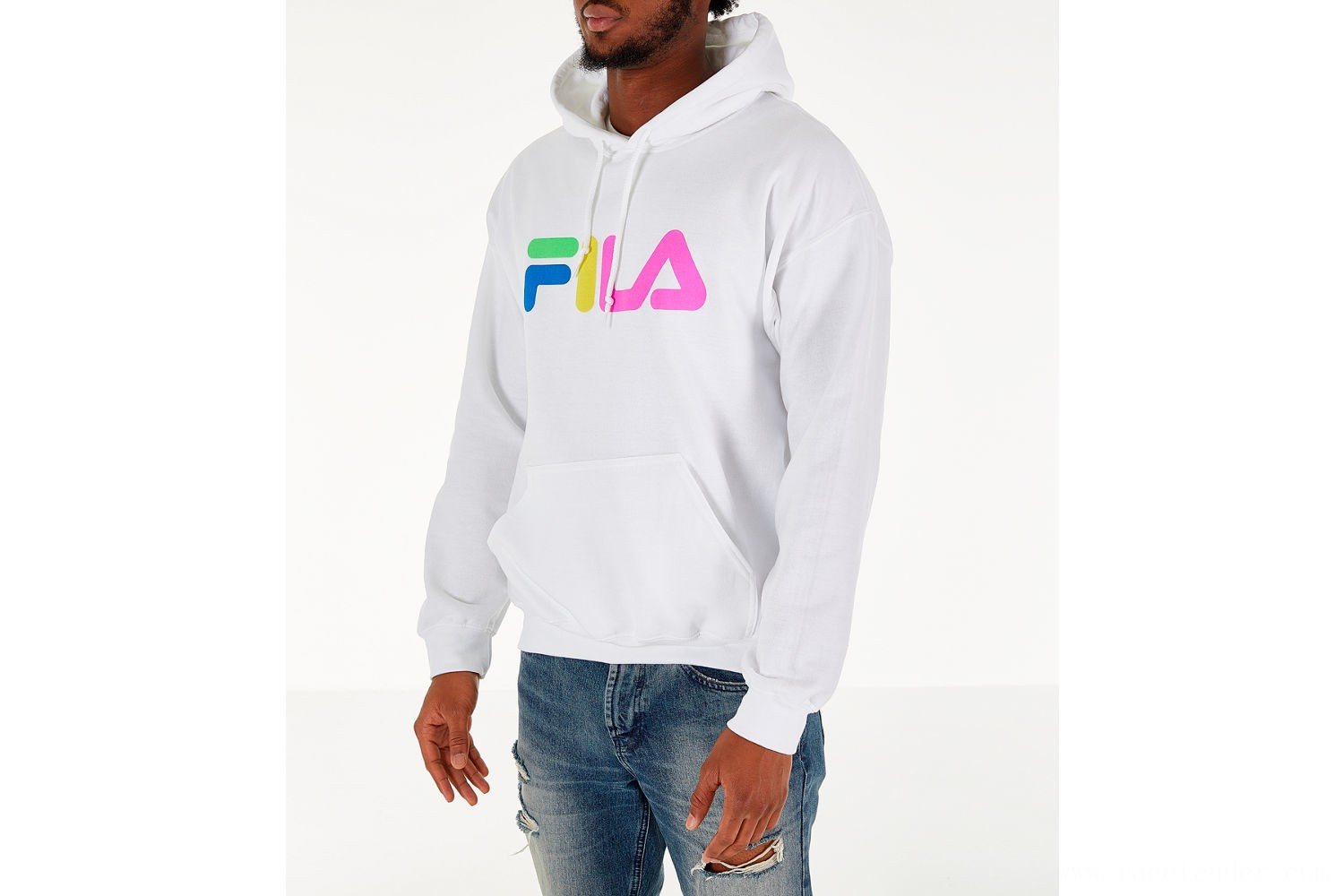 Fila Men's Technicolor Hoodie - White