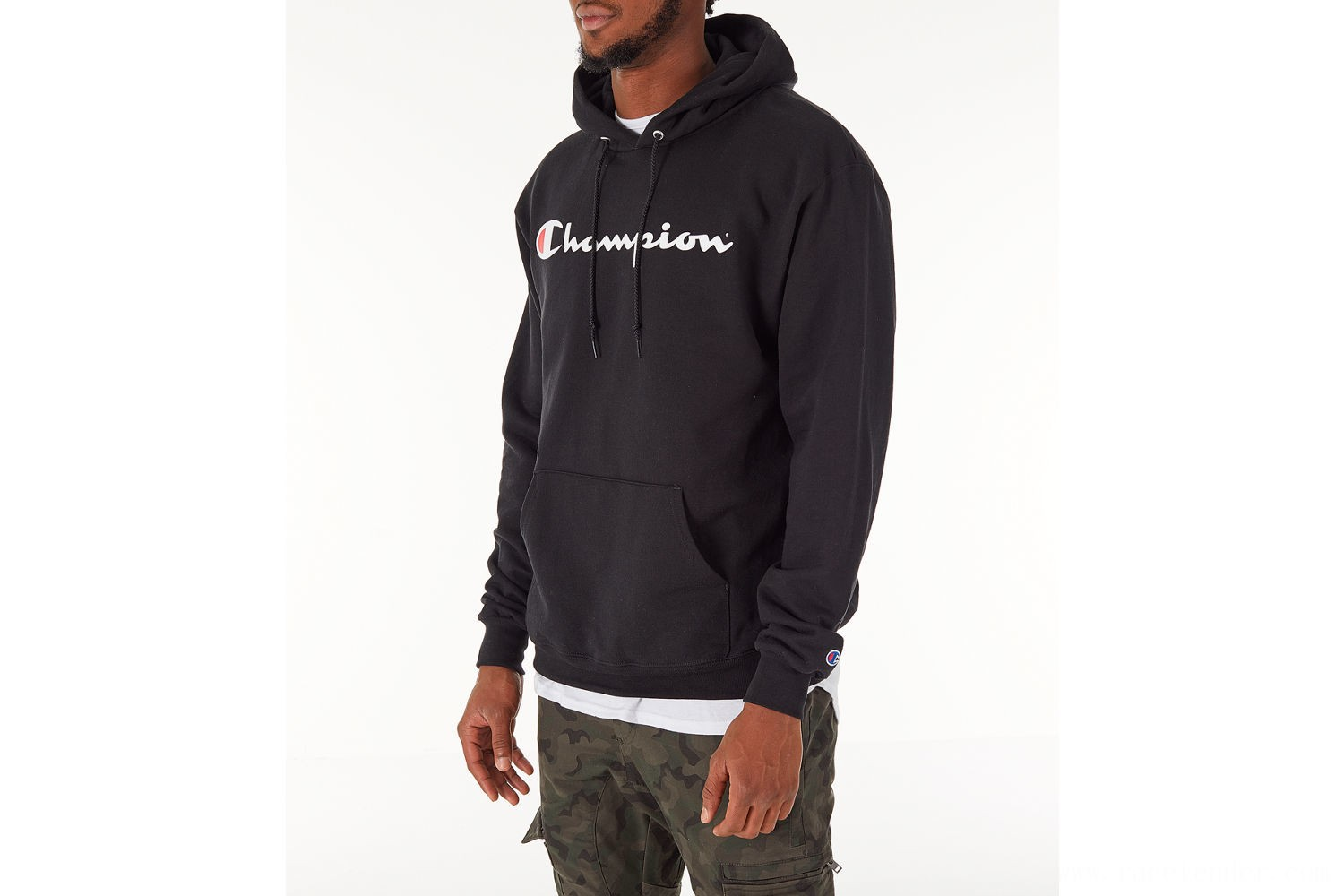 Champion Men's SC Graphic Hoodie - Black