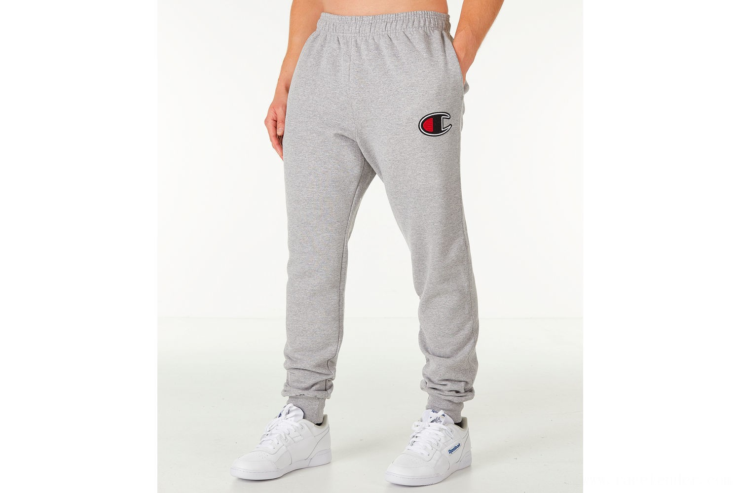 Champion Men's Powerblend Jogger Pants - Oxford Grey