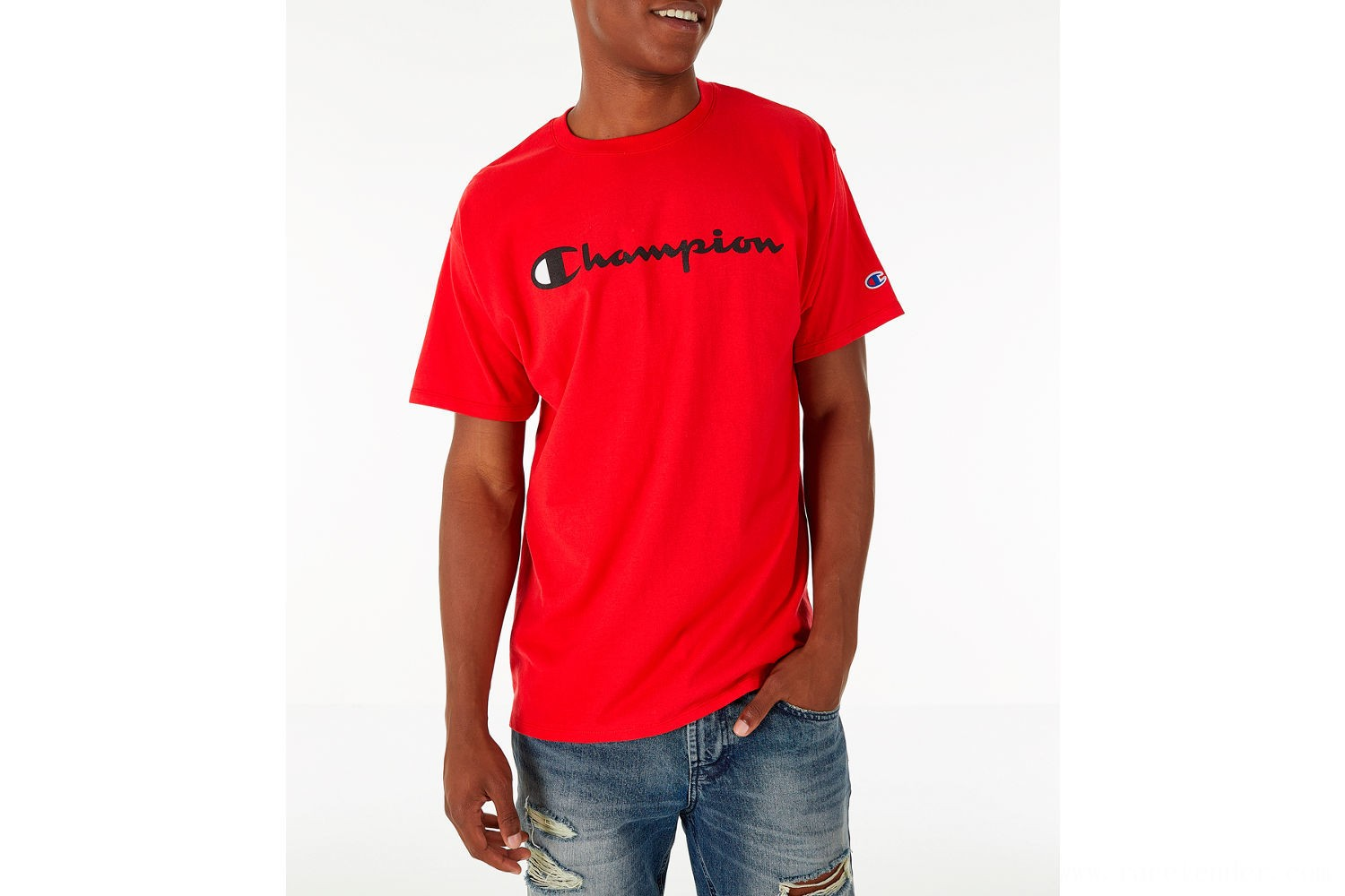 Champion Men's Graphic Jersey T-Shirt - Red
