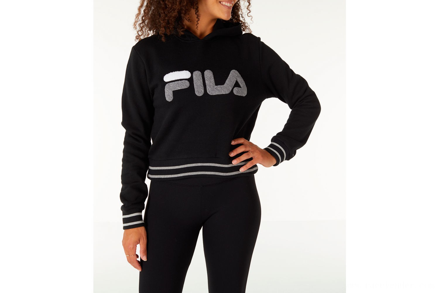 Fila Women's Rosemary Hoodie - Black/Grey