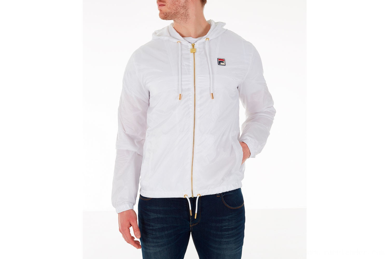 Fila Men's Copper Full-Zip Wind Jacket - White