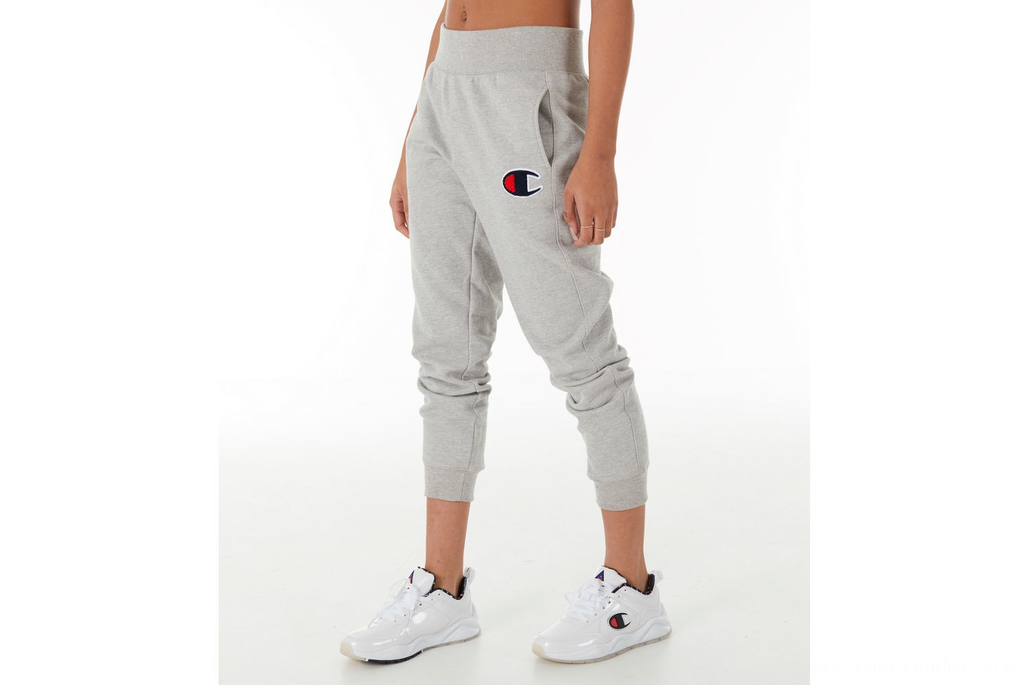 Champion Women's Reverse Weave Chenille Jogger Sweatpants - Oxford Grey