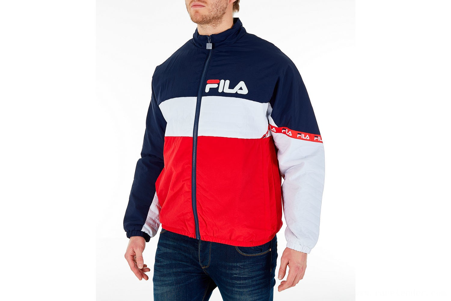 Fila Men's Jayden Full-Zip Jacket - Red/Navy/White