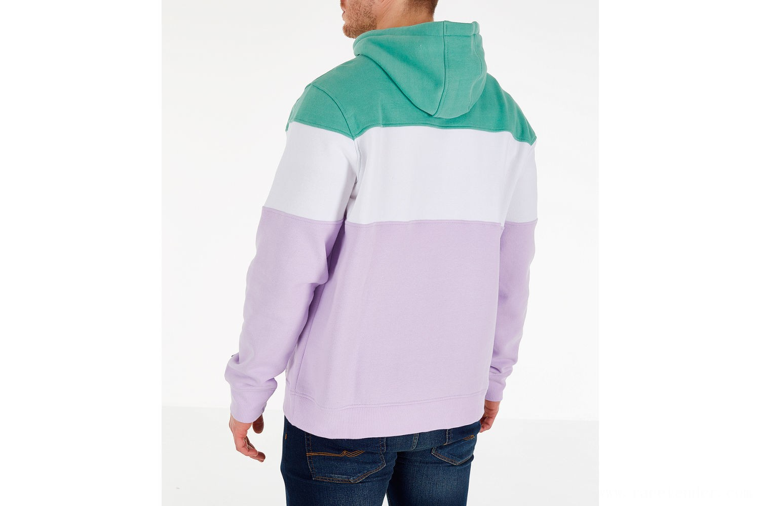 Fila Men's Flamino Pullover Hoodie - Green/Purple