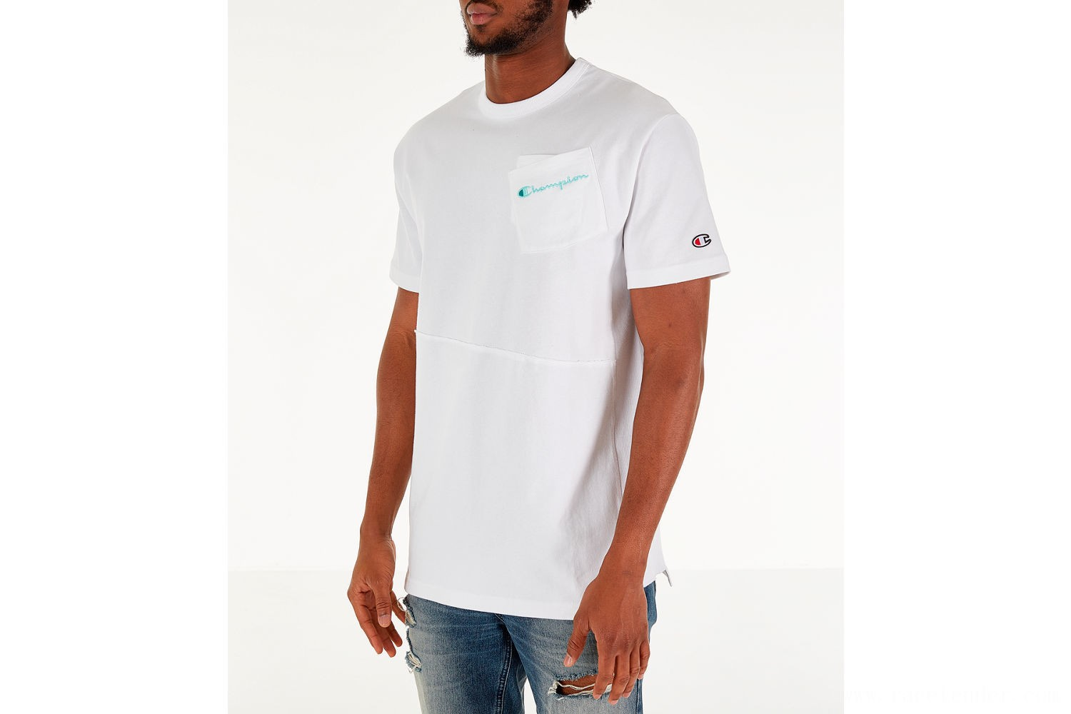 Champion Men's Heritage Shift Pocket T-Shirt - White