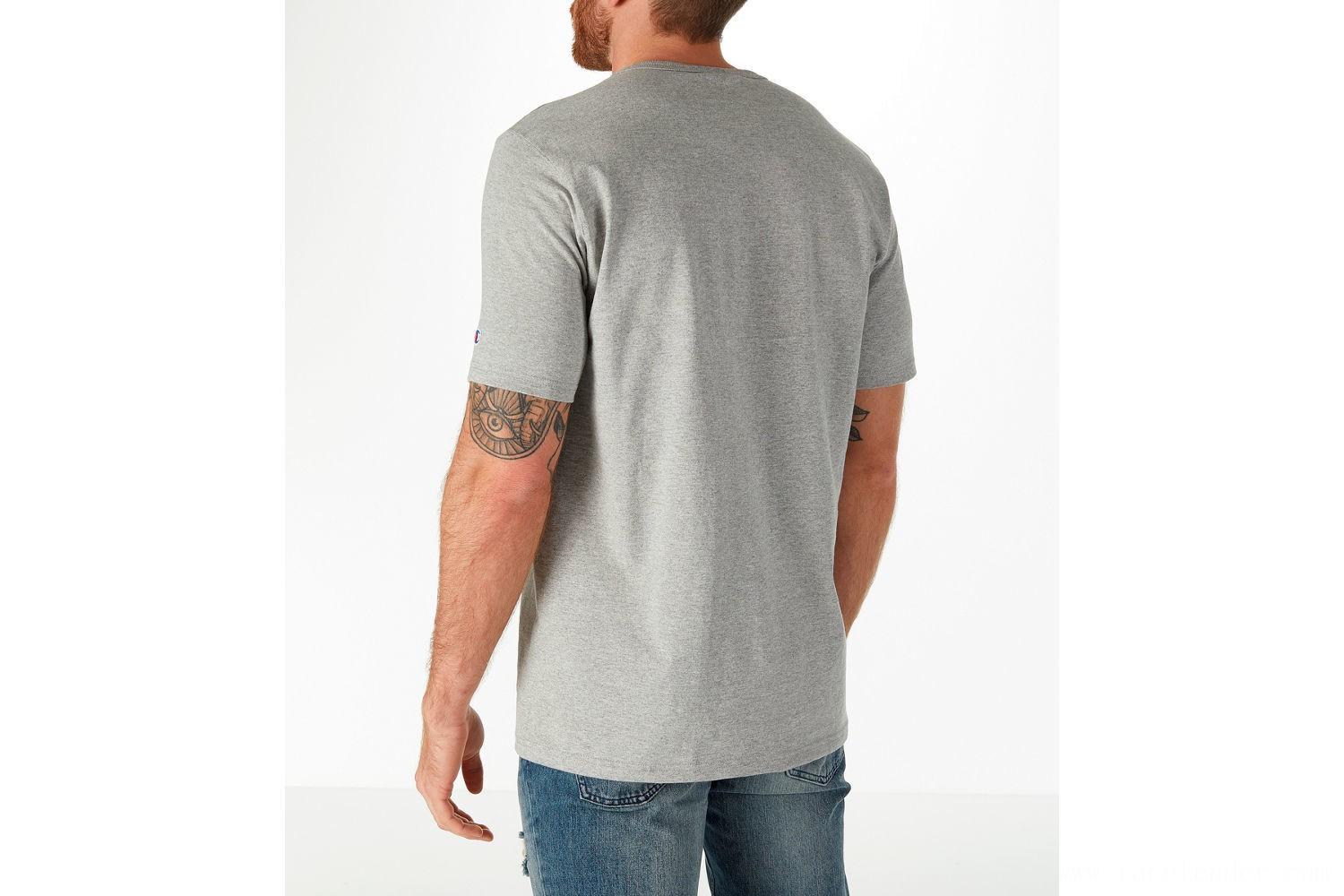 Champion Men's C Patch T-Shirt - Oxford Grey