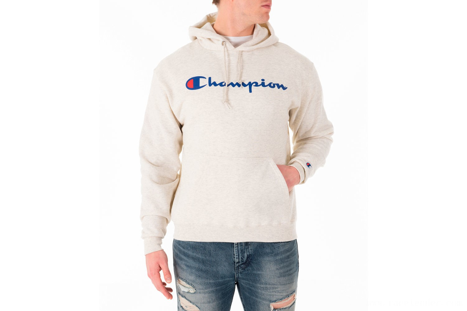 Champion Men's SC Graphic Hoodie - Oatmeal