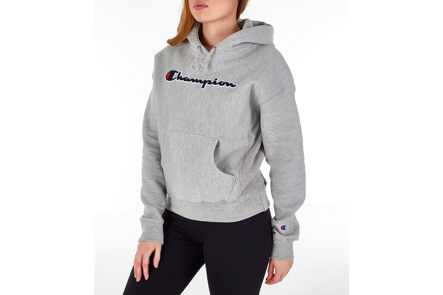 Champion Women's Reverse Weave Chenille Hoodie - Oxford Grey