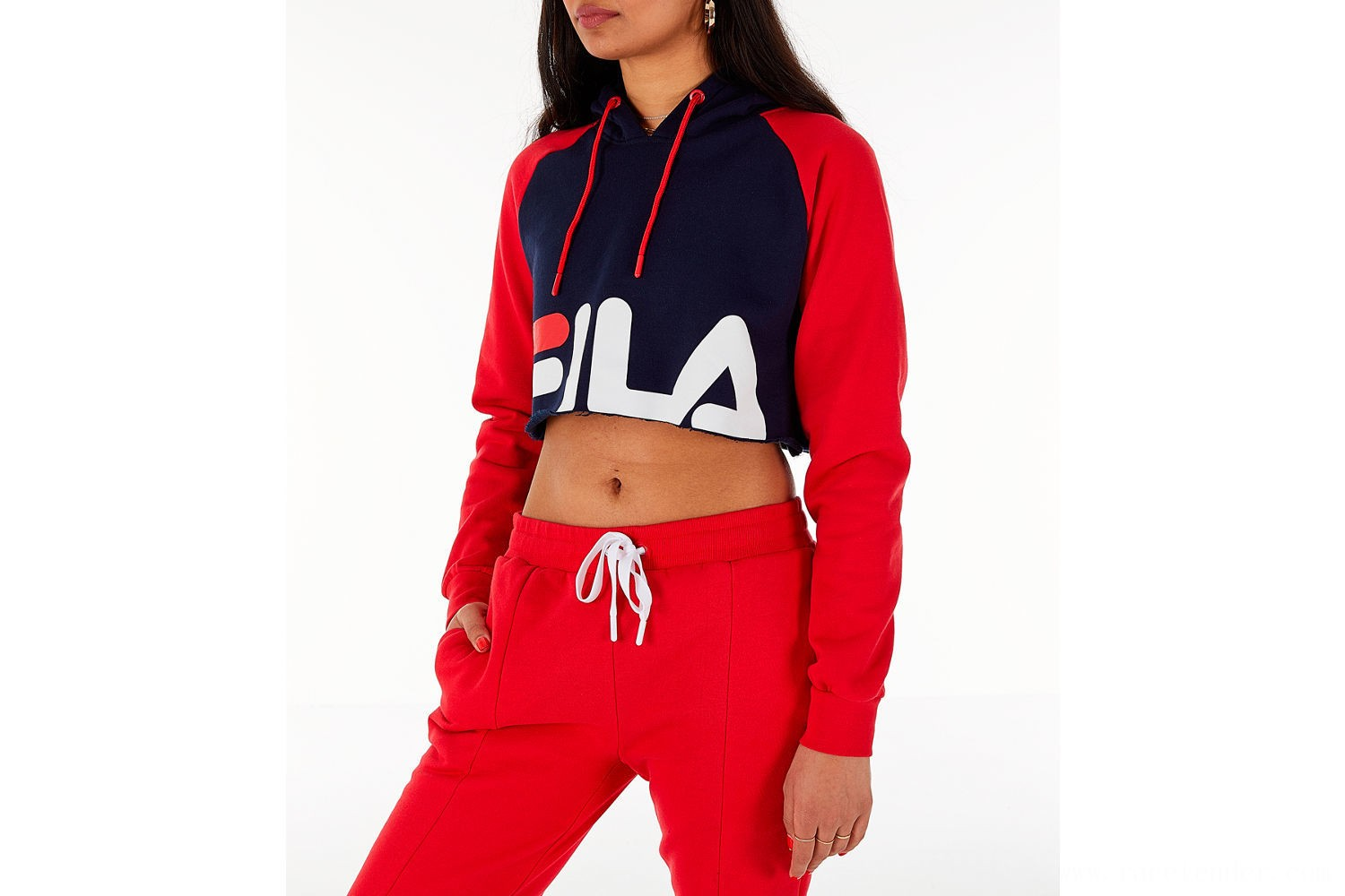 Fila Women's Luciana Hoodie - Red/White/Blue