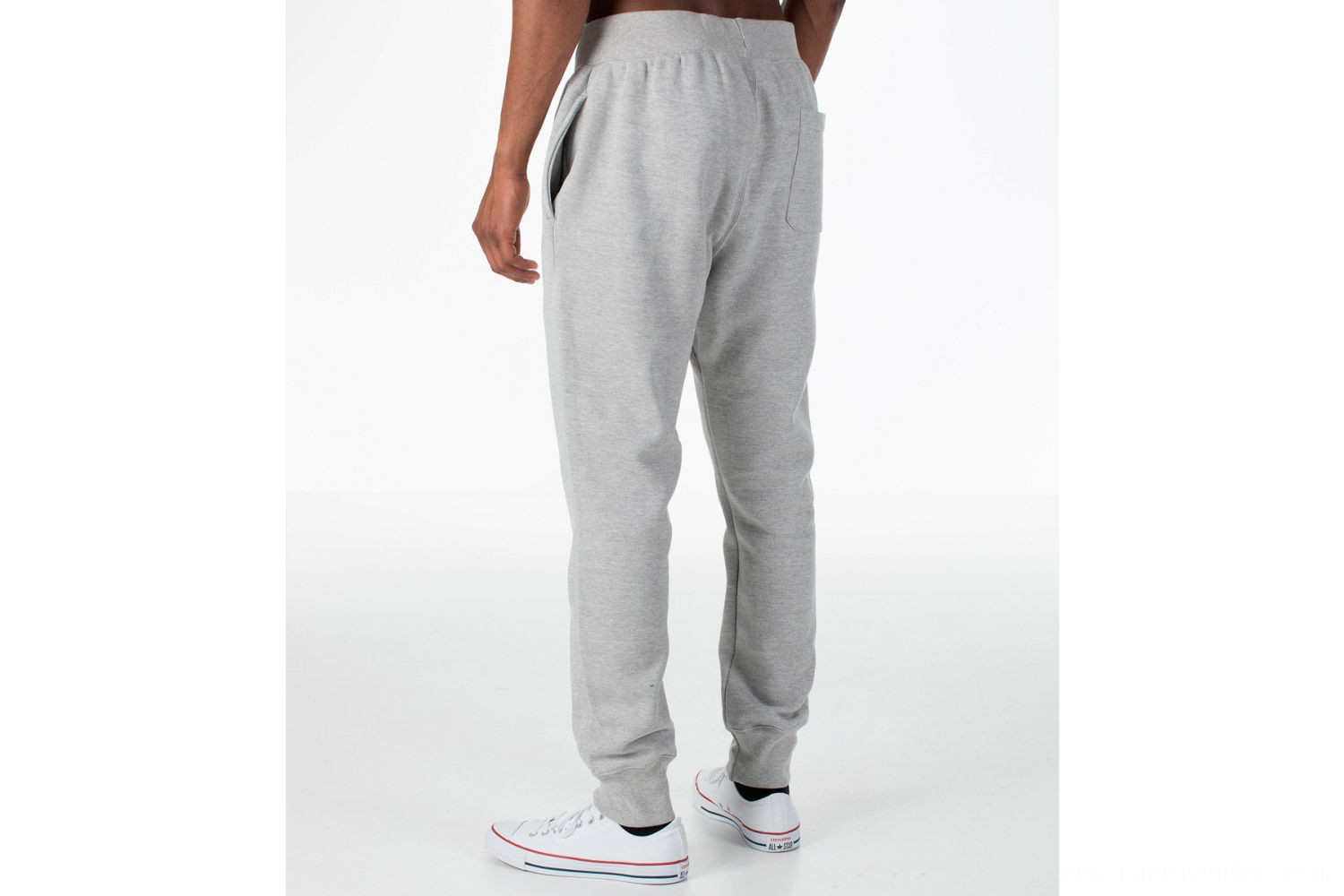 Champion Men's Reverse Weave Jogger Pants - Grey/White