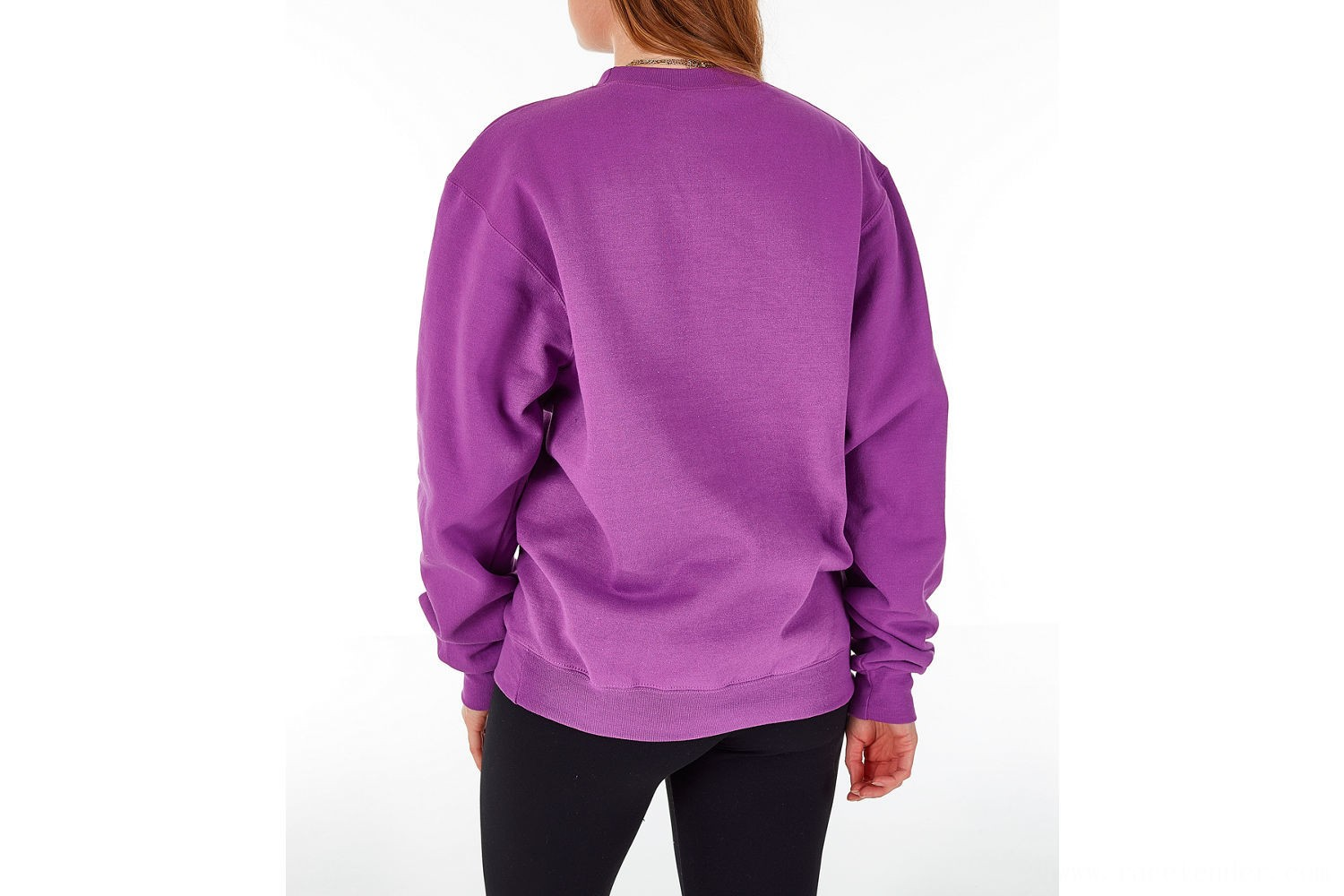 Champion Women's Powerblend Fleece Boyfriend Crew Sweatshirt - Purple