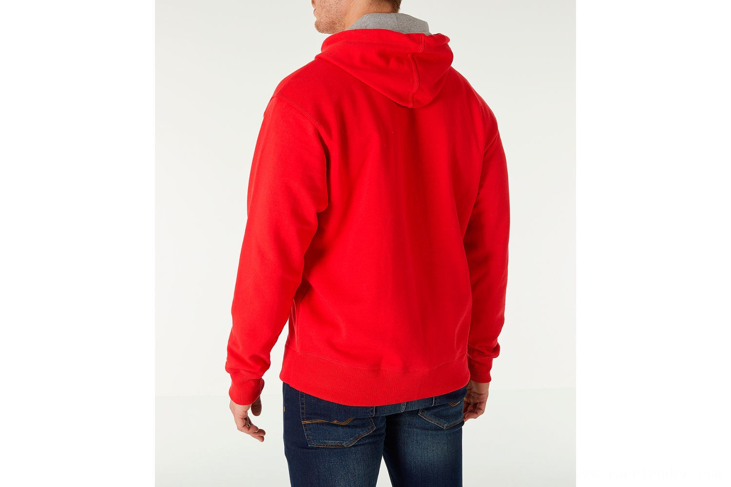 Champion Men's Powerblend Full-Zip Hoodie - Red