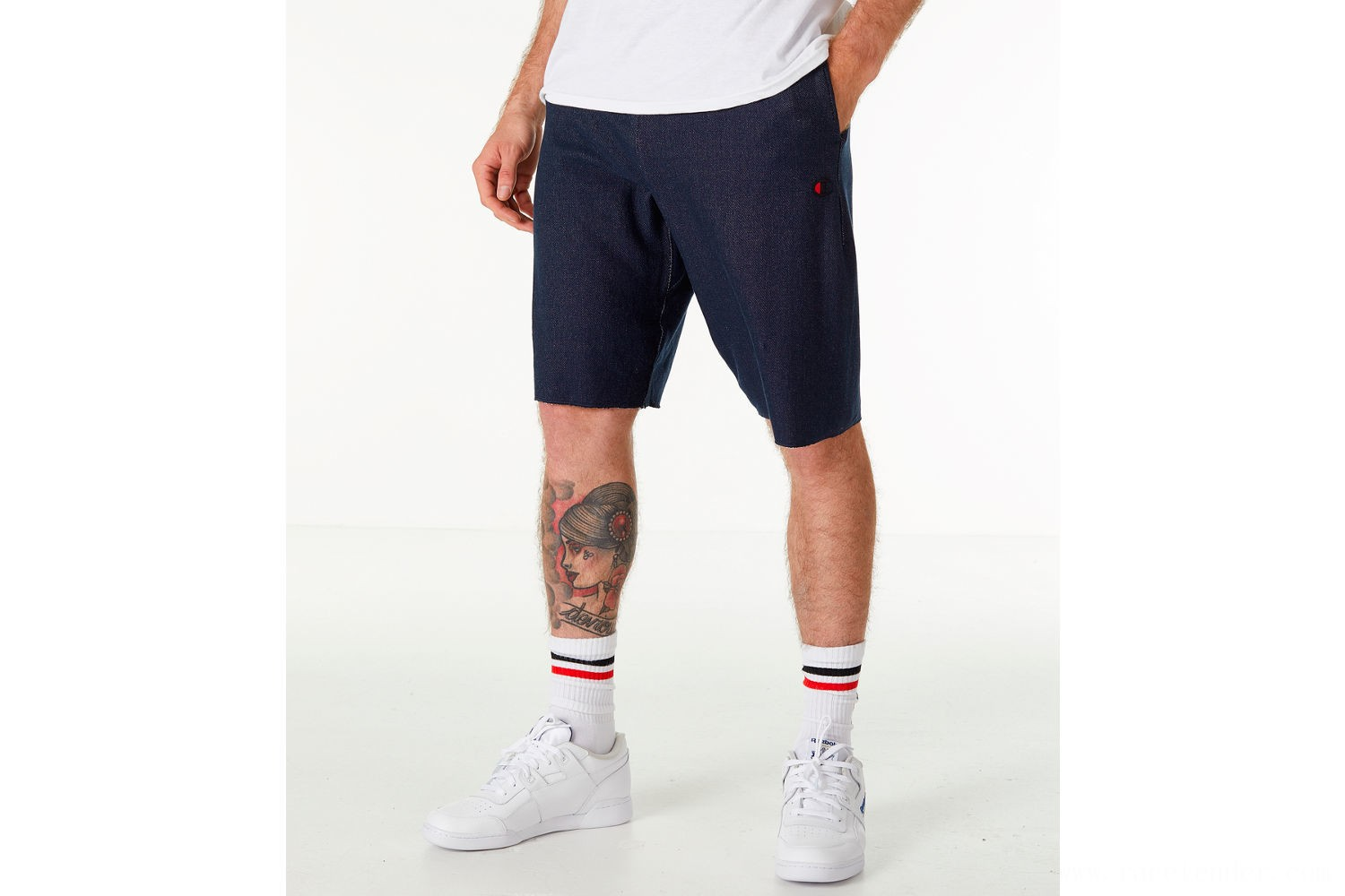 Champion Men's Reverse Weave French Terry Shorts - Navy