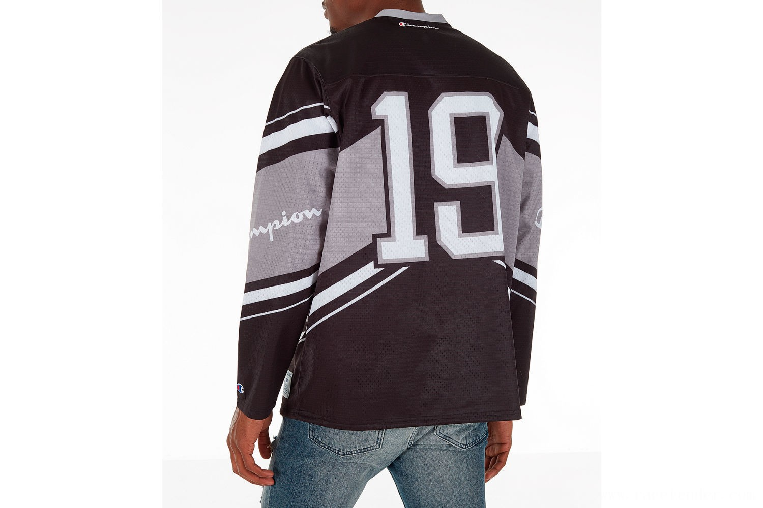 Champion Men's Hockey Jersey - Black/Grey/White