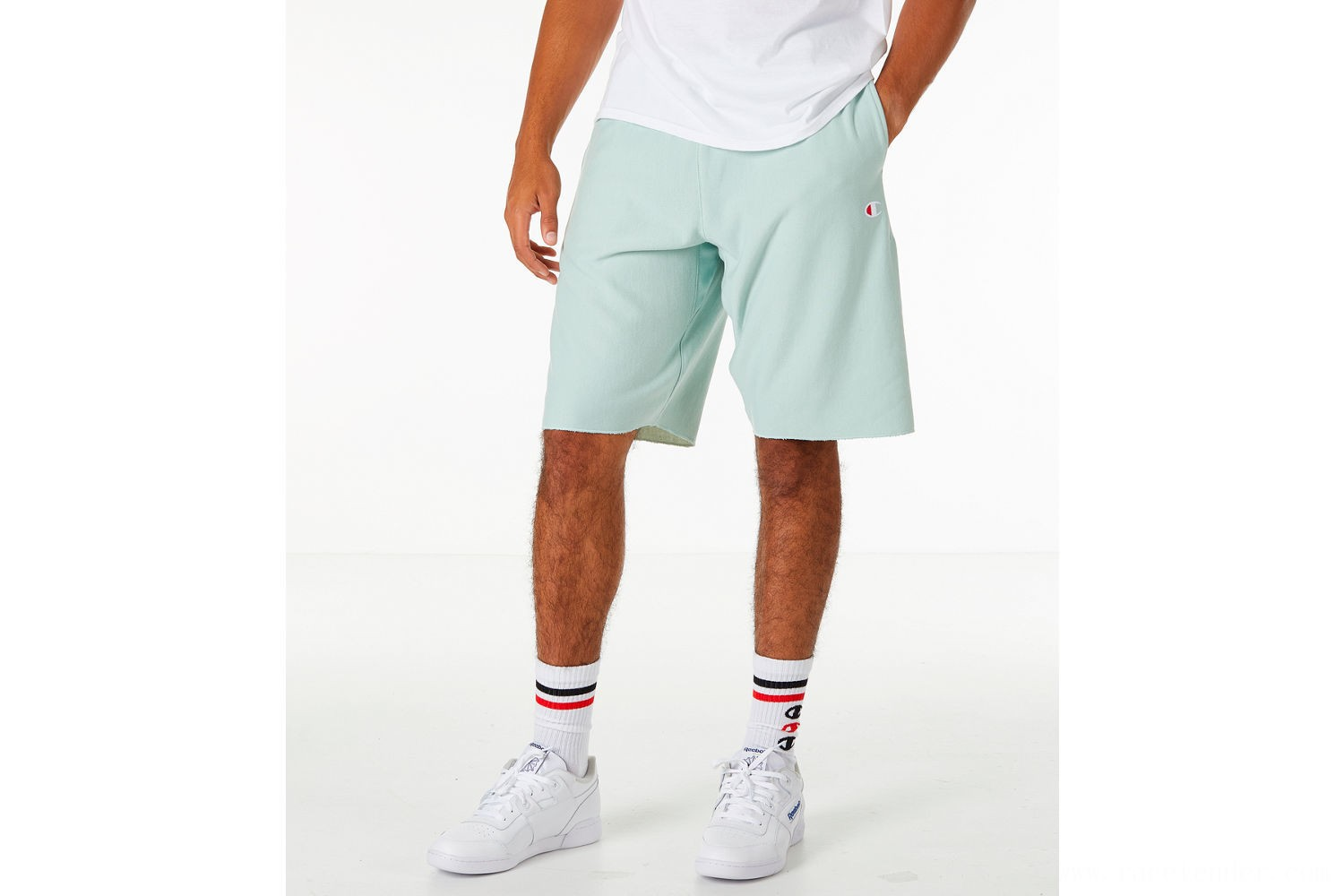 Champion Men's Reverse Weave French Terry Shorts - Mint