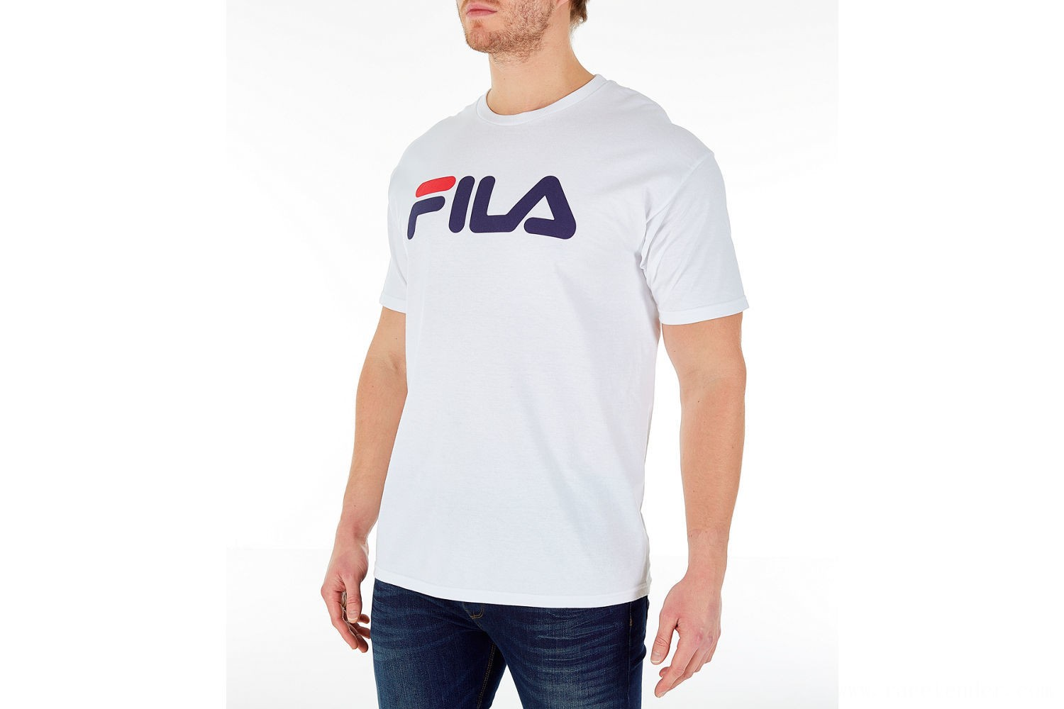 Fila Men's Logo T-Shirt - White