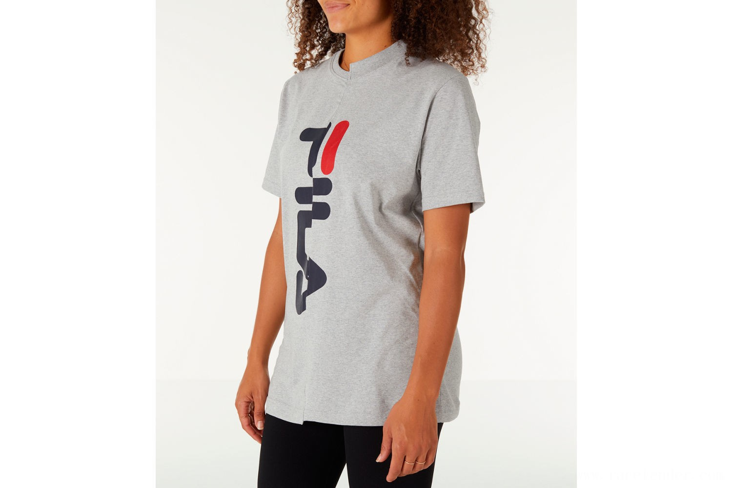 Fila Women's Teresa Spliced T-Shirt - Grey/Navy