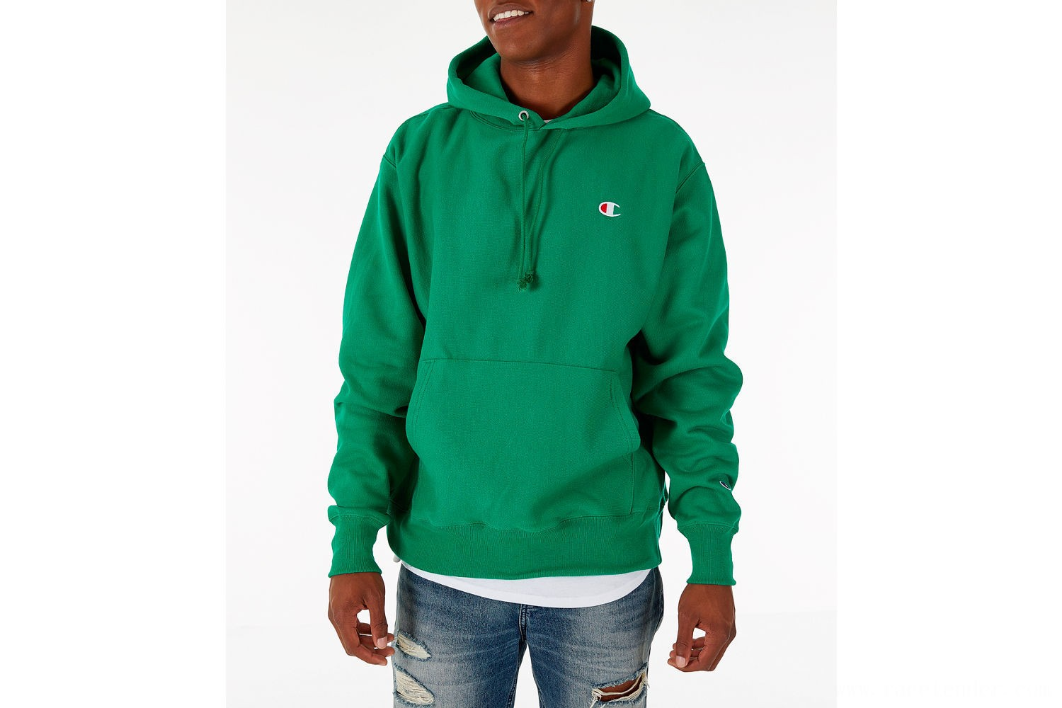 Champion Men's Reverse Weave Pullover Hoodie - Kelly Green
