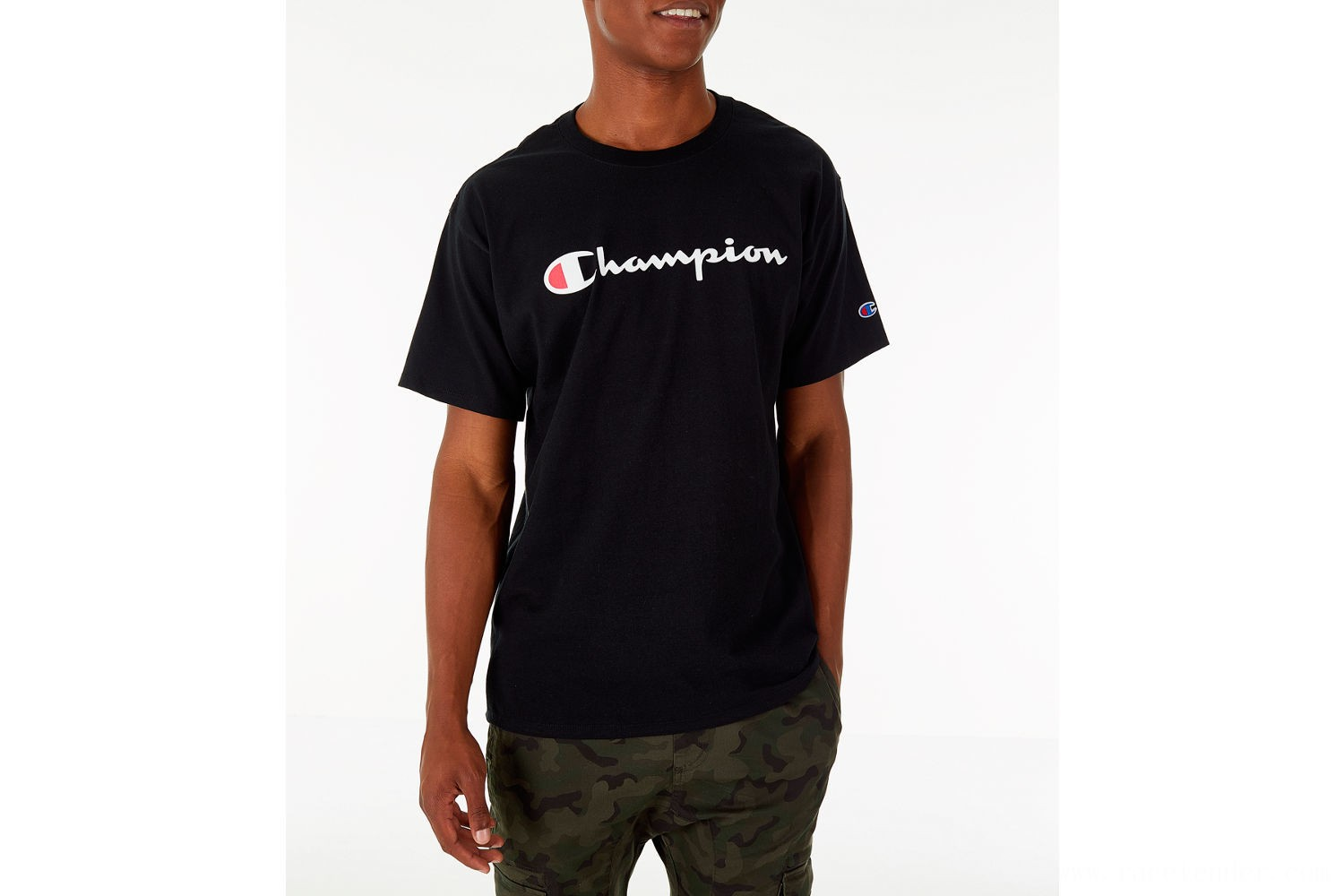 Champion Men's Graphic Jersey T-Shirt - Black