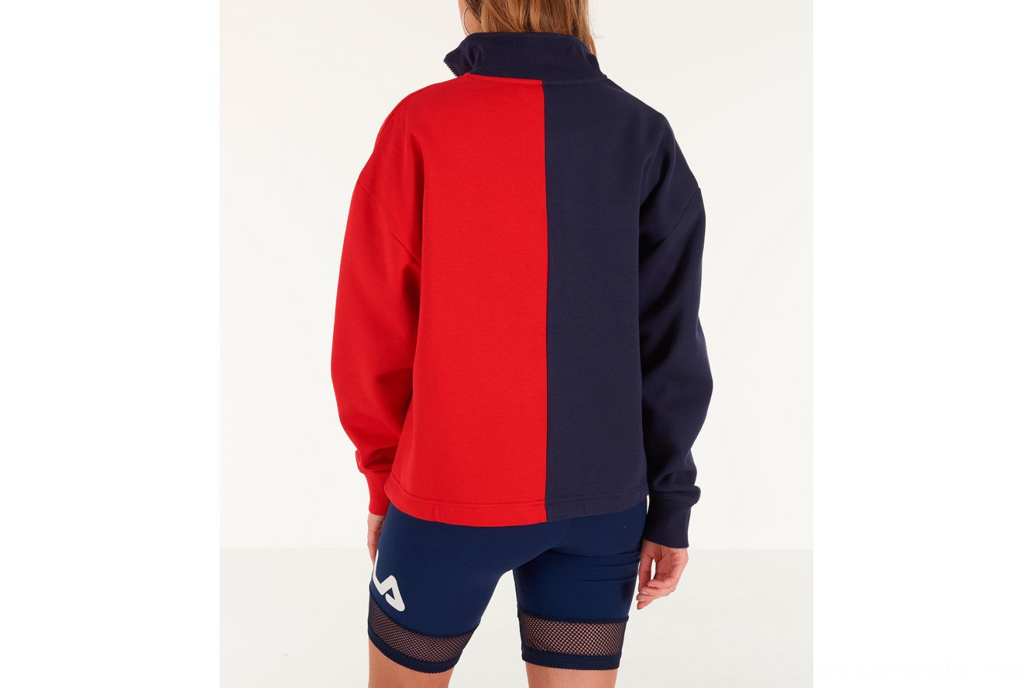 Fila Women's Nayara Quarter-Zip Sweatshirt - Navy/Red