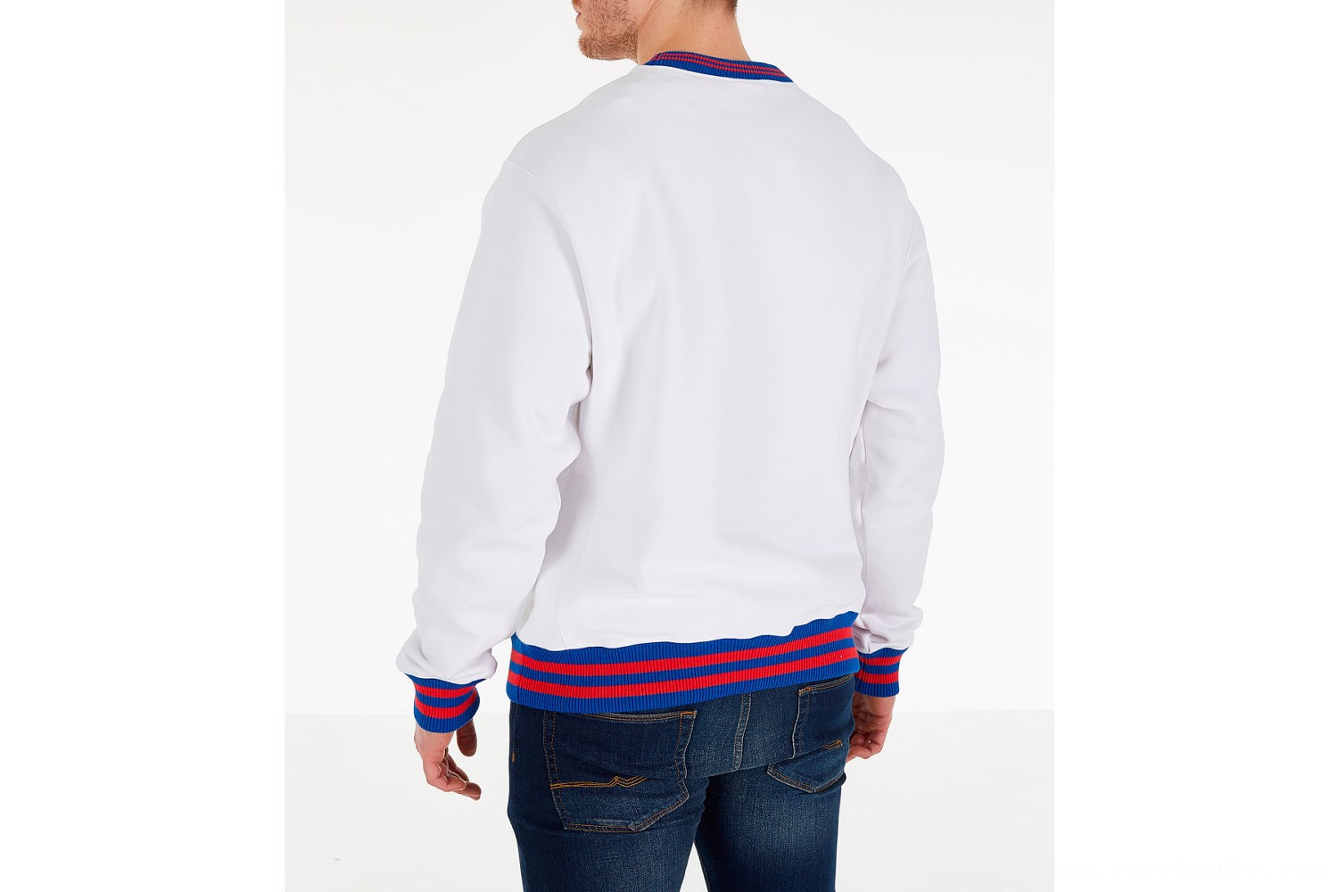 Champion Men's Yard Dyed Ribbed Crewneck Sweatshirt - White