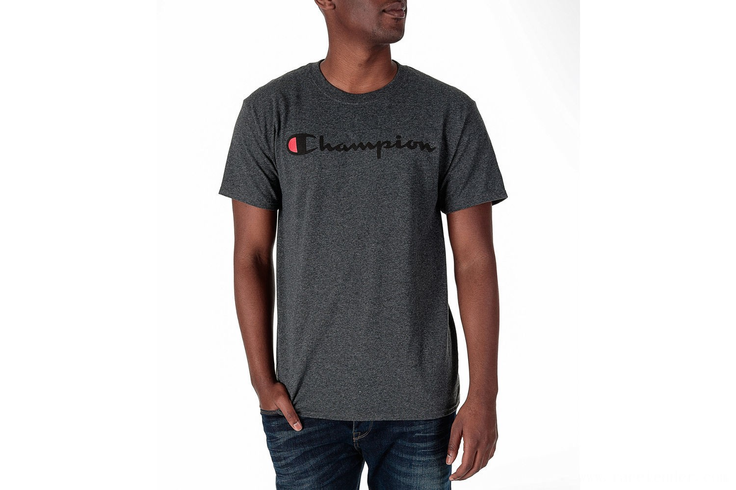 Champion Men's Graphic T-Shirt - Granite Heather
