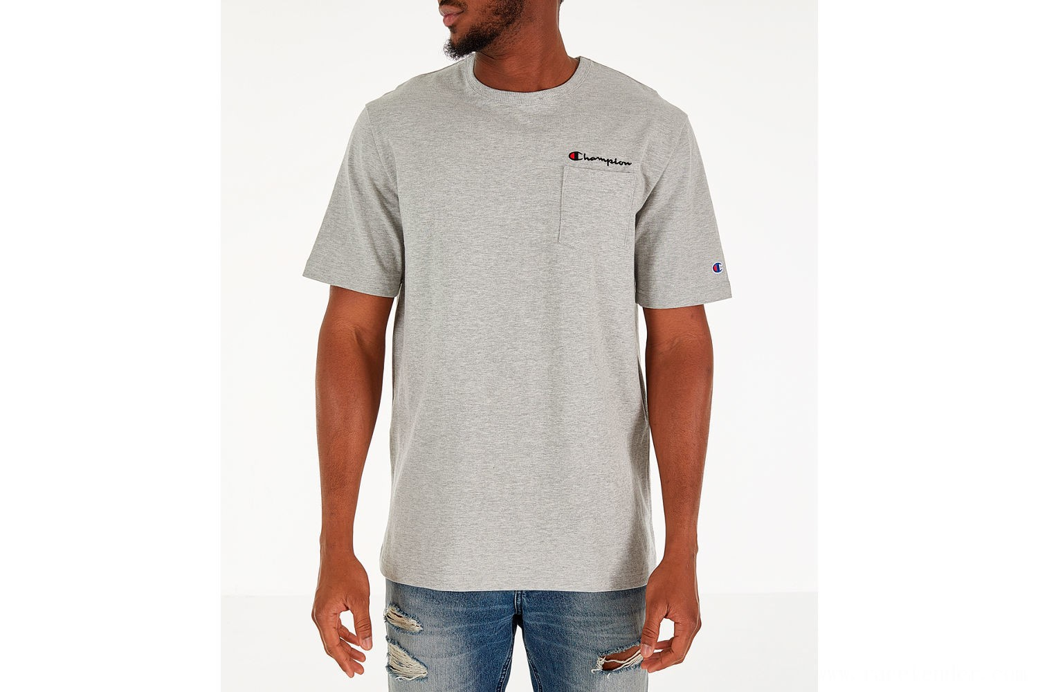 Champion Men's Heritage Pocket T-Shirt - Grey